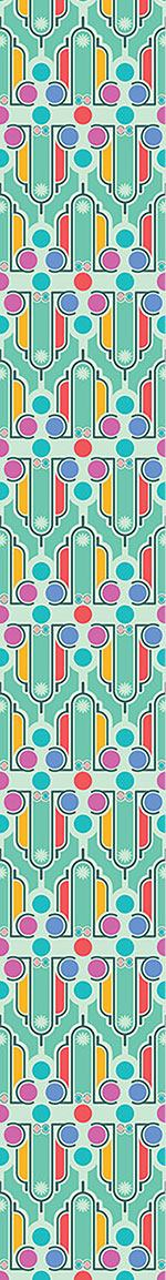 Designmuster Tapete Art Deco Spass