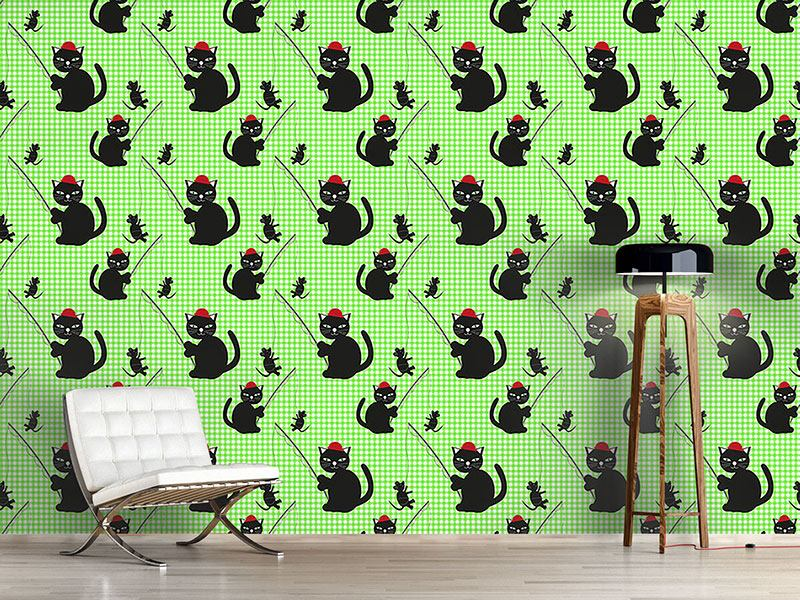 Pattern Wallpaper Cat-And-Mouse-Game