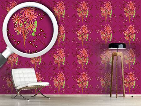 Pattern Wallpaper Fantasia Floral