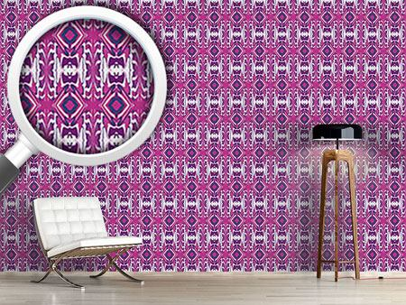 Pattern Wallpaper Ultrasonic Pink