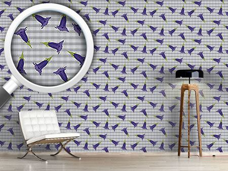 Pattern Wallpaper Gentian