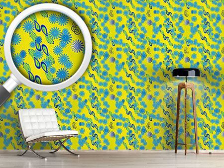 Pattern Wallpaper Bellies Paradiese Yellow