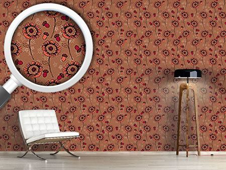 Pattern Wallpaper Boheme Fantasyflowers Brown
