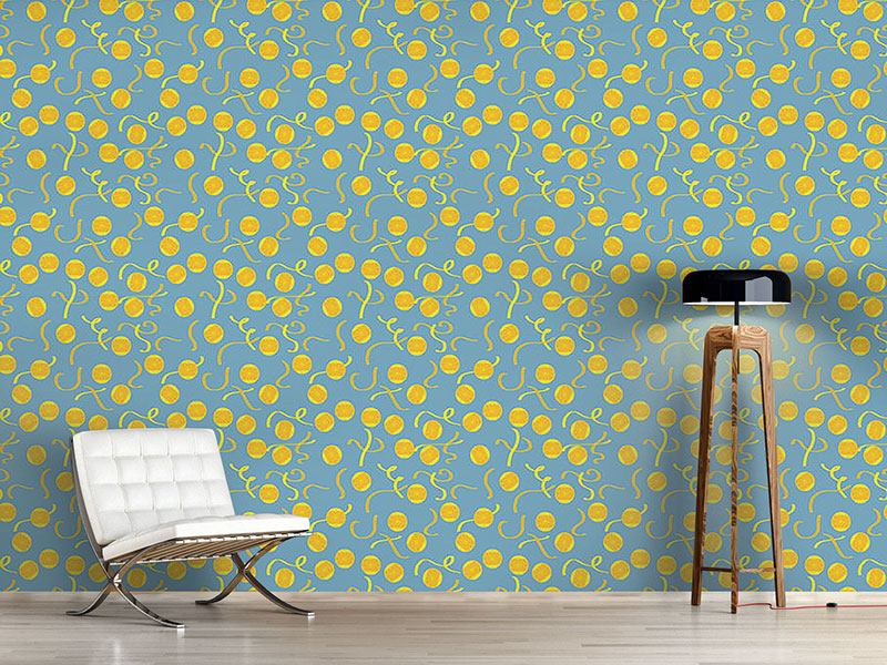Pattern Wallpaper Lemon Slices