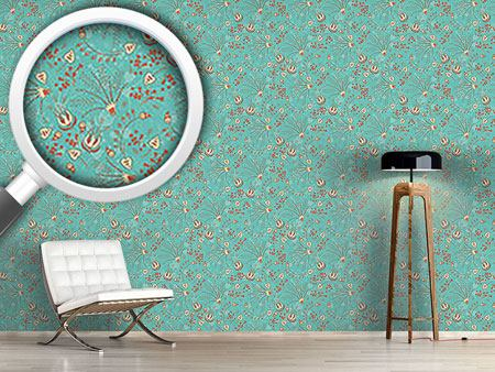 Pattern Wallpaper Natashas Garden Dream Mint