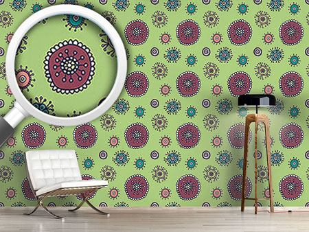 Pattern Wallpaper Sweet Flora Green