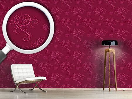 Pattern Wallpaper Love Actually Red