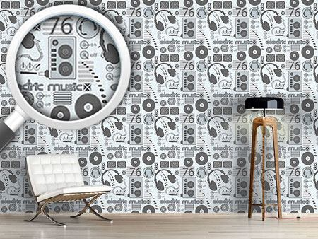 Pattern Wallpaper Disc Jockey
