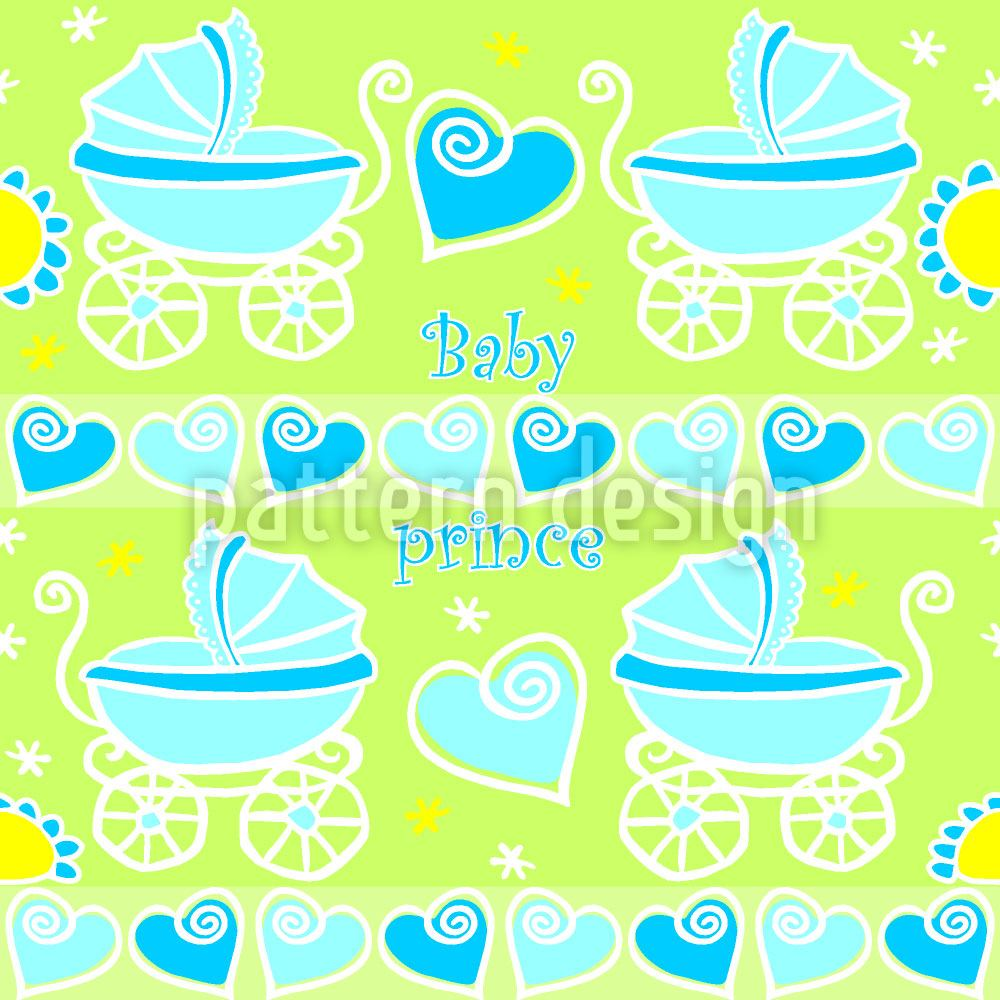 Pattern Wallpaper Neon Baby Blue