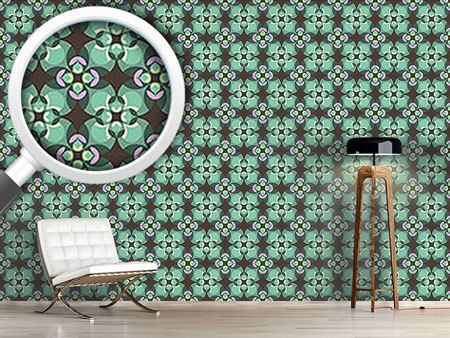 Pattern Wallpaper Esmeralda Green
