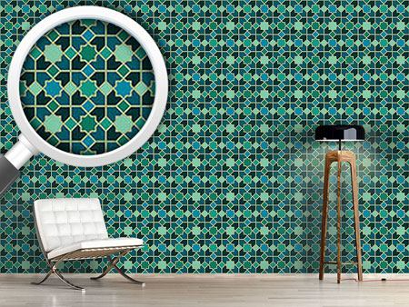 Pattern Wallpaper Morocco Teal