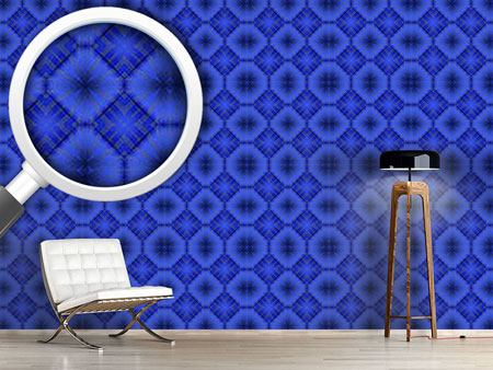 Pattern Wallpaper Ultramarine