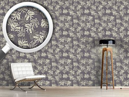 Pattern Wallpaper Acacia Leaves