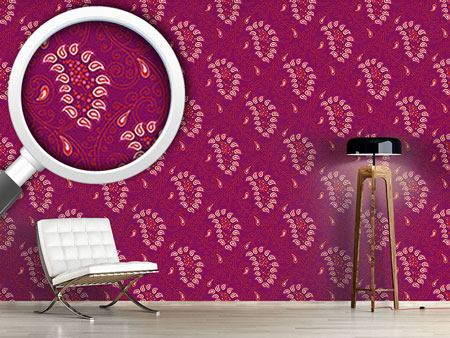 Pattern Wallpaper Exotic Tendrillars Purple