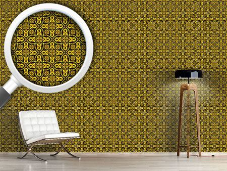 Pattern Wallpaper Ethno Crosses