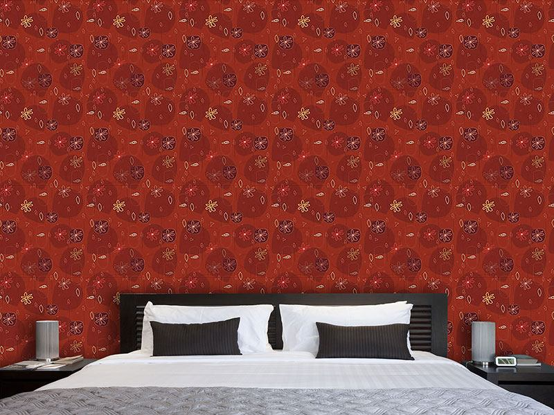Pattern Wallpaper Party In Red