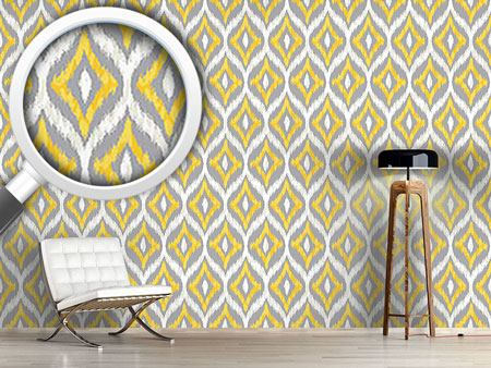Pattern Wallpaper Animal Ikat