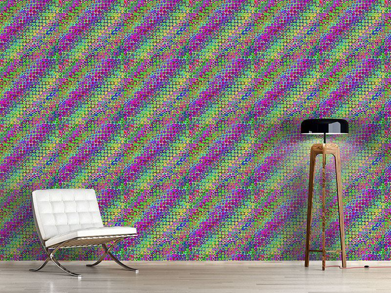 Pattern Wallpaper Rainbow In Colored Glass