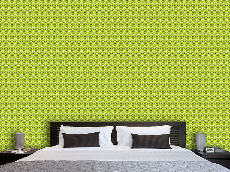 Papier peint design Drop Drop Grass Green