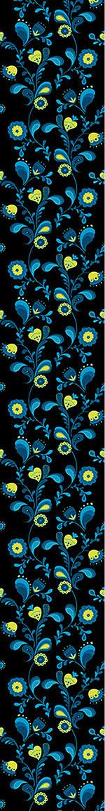 Papier peint design Paisley Flowers By Midnight
