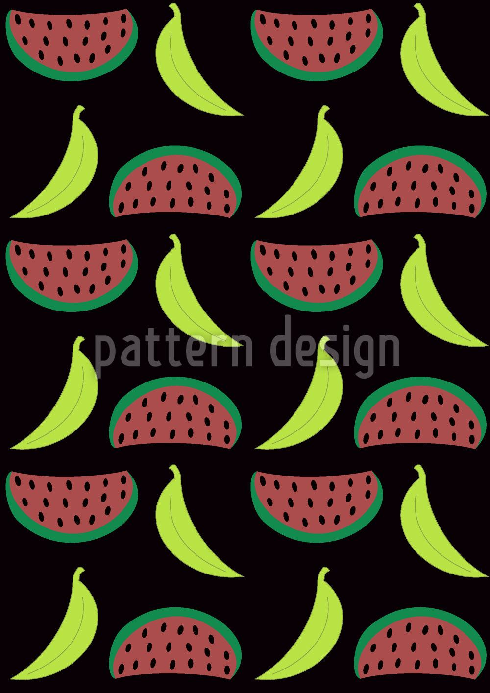 Pattern Wallpaper Bella Banana Meets Manni Melon