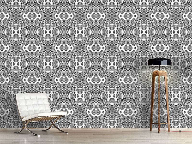 Pattern Wallpaper Circulating Flowers