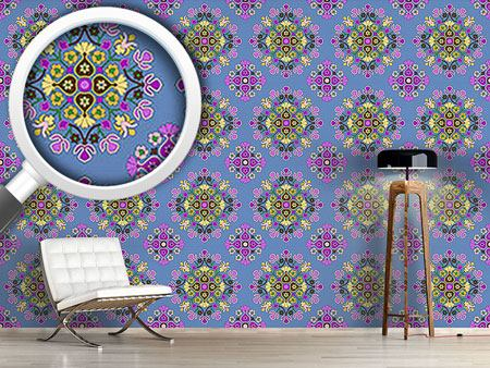 Pattern Wallpaper Oriental Bloom