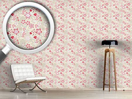 Pattern Wallpaper In Grannys Strawberry Paradise
