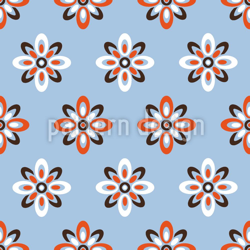 Pattern Wallpaper Sky Flowers