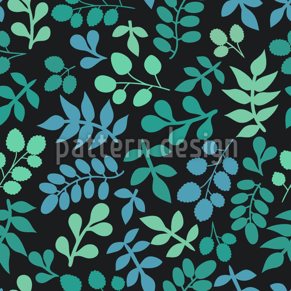 Pattern Wallpaper Leaf Variations
