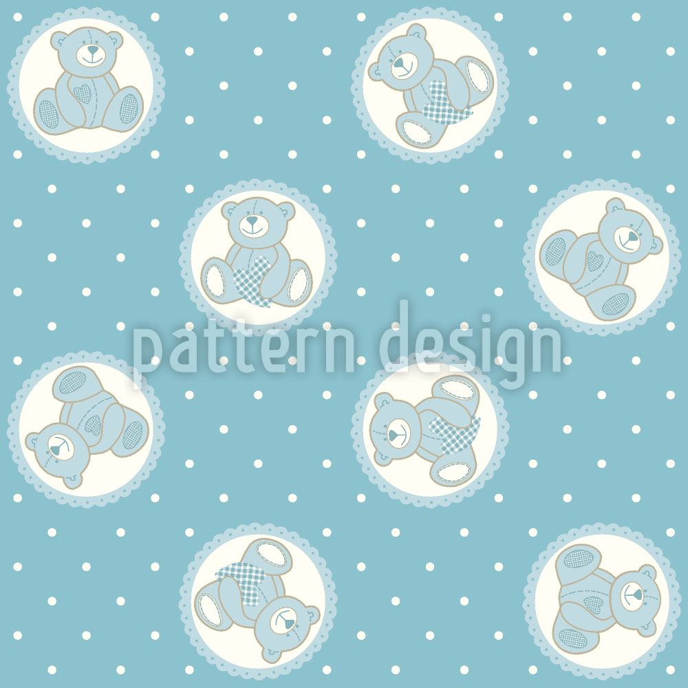 Pattern Wallpaper Baby Timmys Teddy Bear