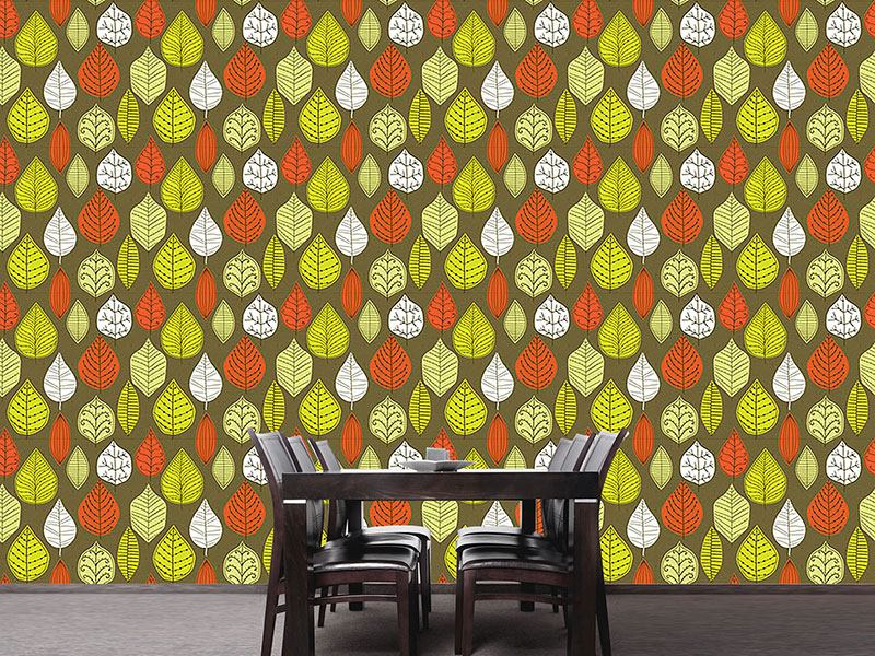 Papier peint design Leaves In Style