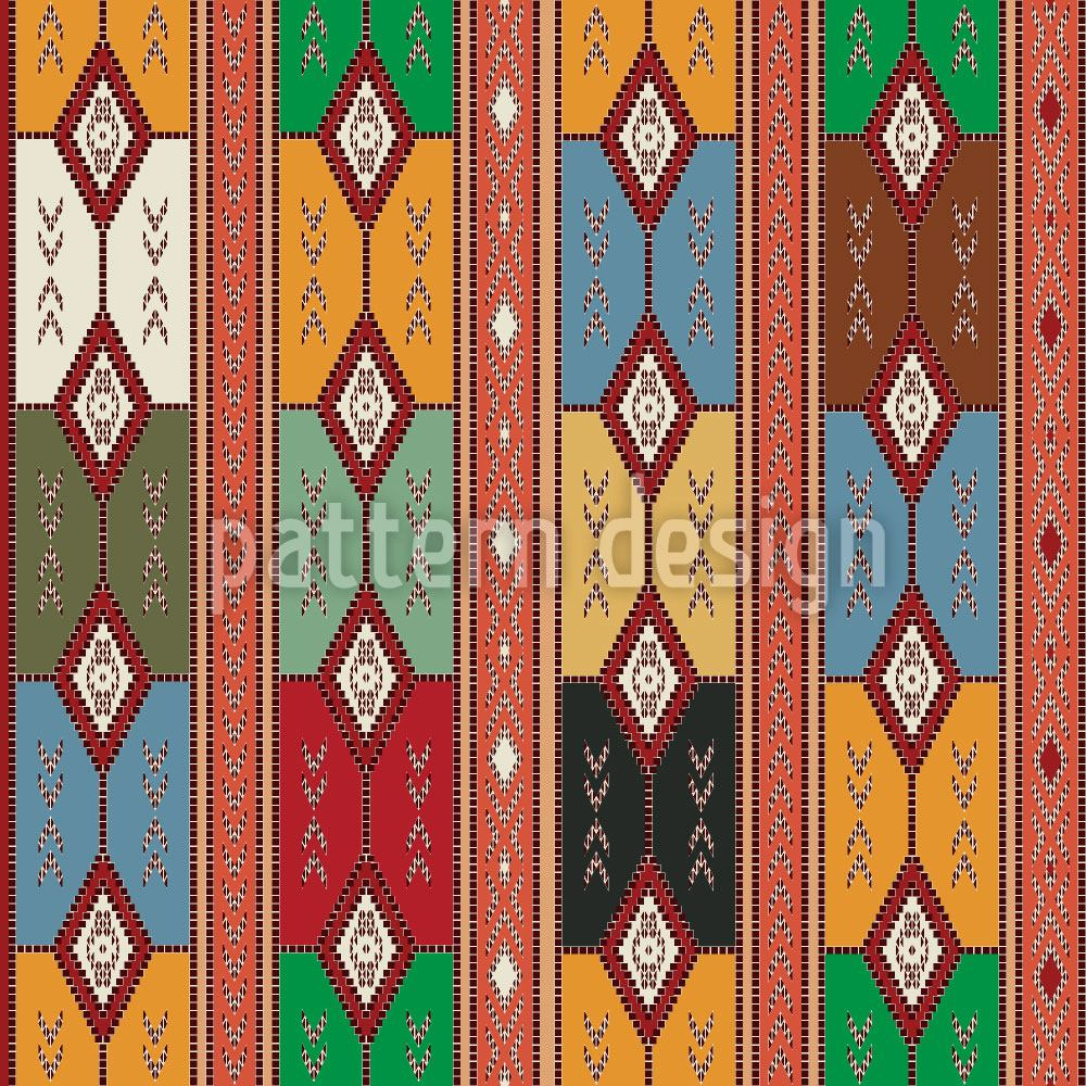 Papier peint design Cherokee Diamonds