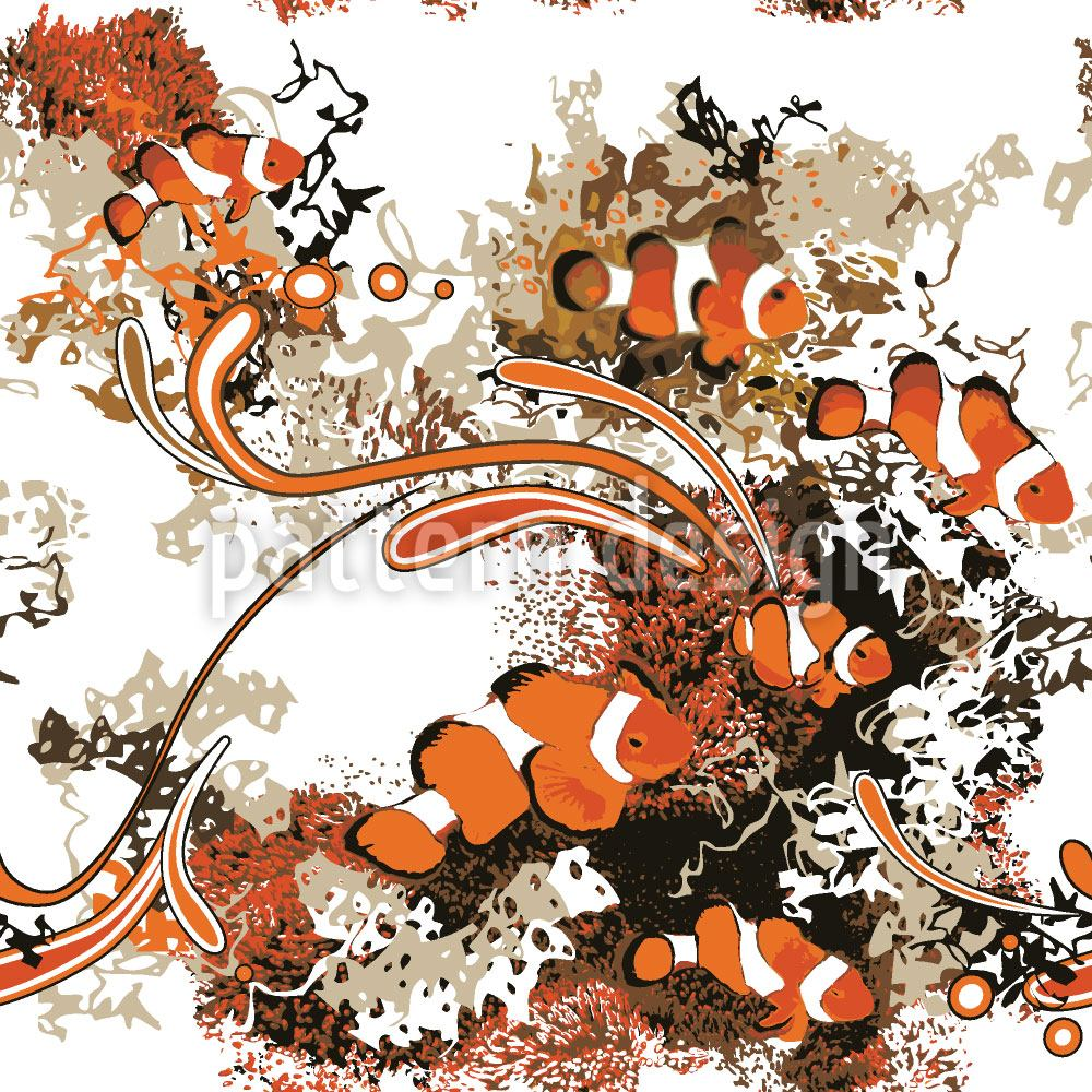 Pattern Wallpaper Clownfish
