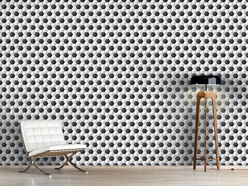 Papier peint design Hexagon Honeycomb