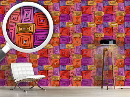 Pattern Wallpaper Spiral Square