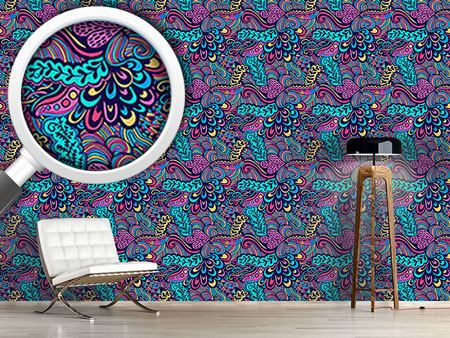Pattern Wallpaper Neon Fantasies