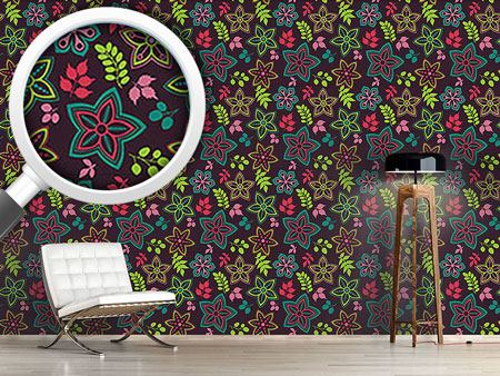 Pattern Wallpaper Gorgeous Flower Mix
