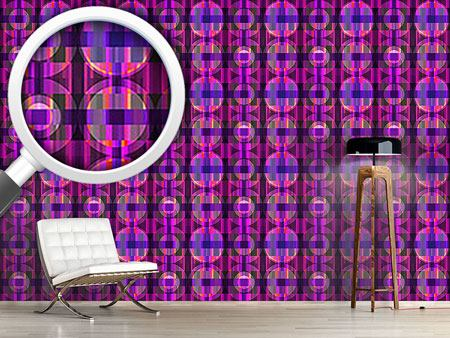Pattern Wallpaper Parkquet Ultraviolet