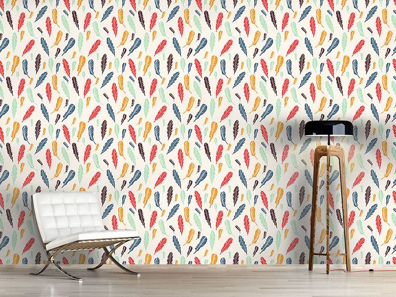 Pattern Wallpaper Feathers