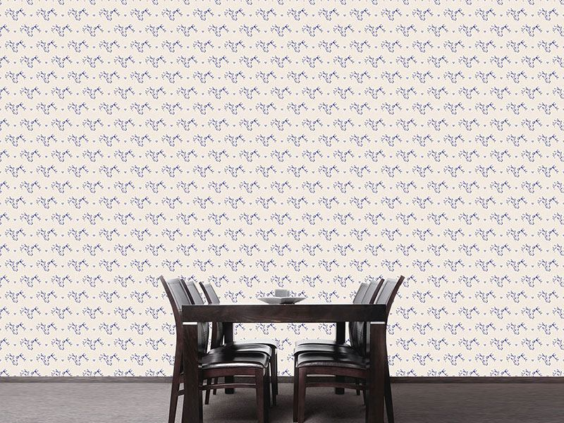 Pattern Wallpaper Deer And Hearts