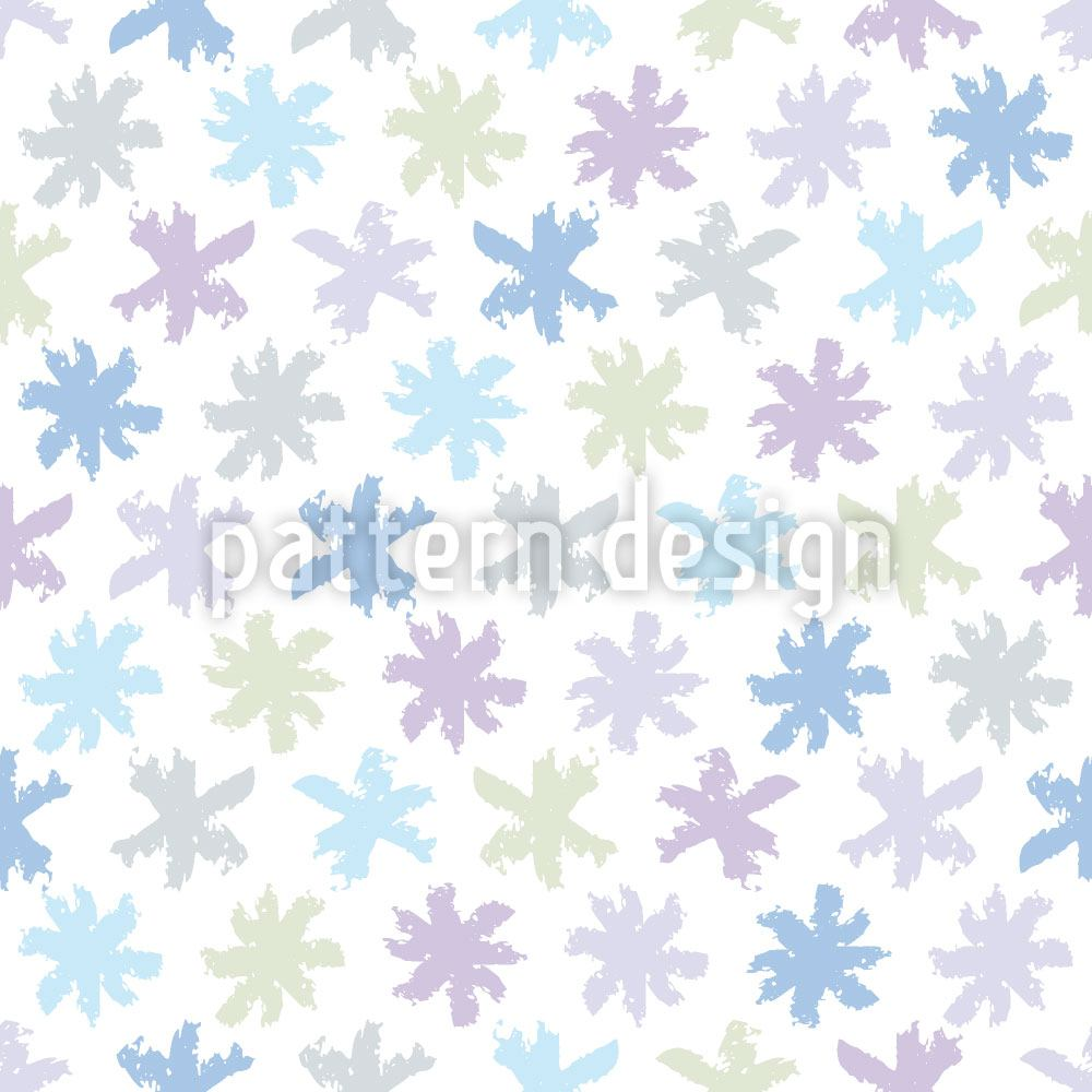 Papier peint design Little Snow Stars