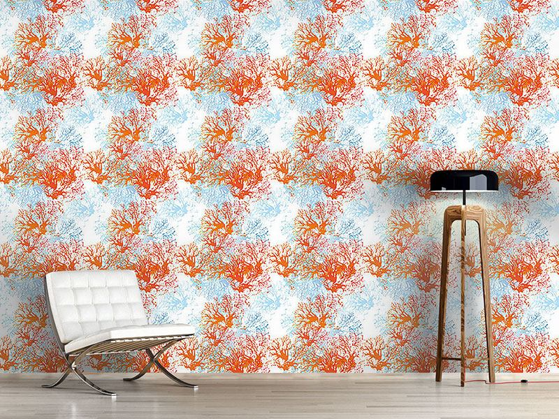 Pattern Wallpaper Coral Garden