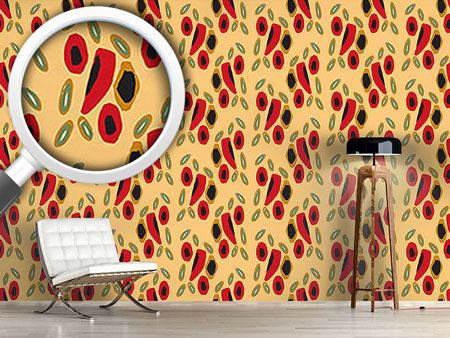 Pattern Wallpaper Spanish Liquorice