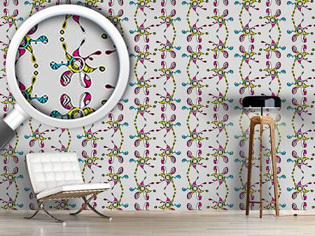 Pattern Wallpaper Floral Surrealism