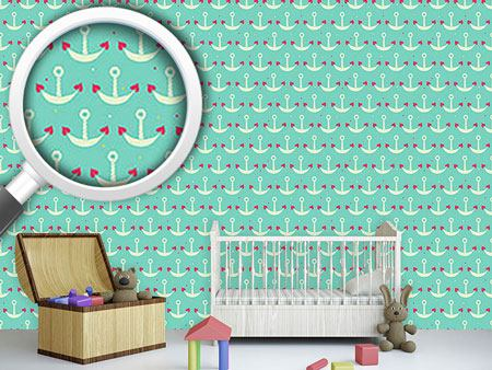 Pattern Wallpaper Anchor With Heart