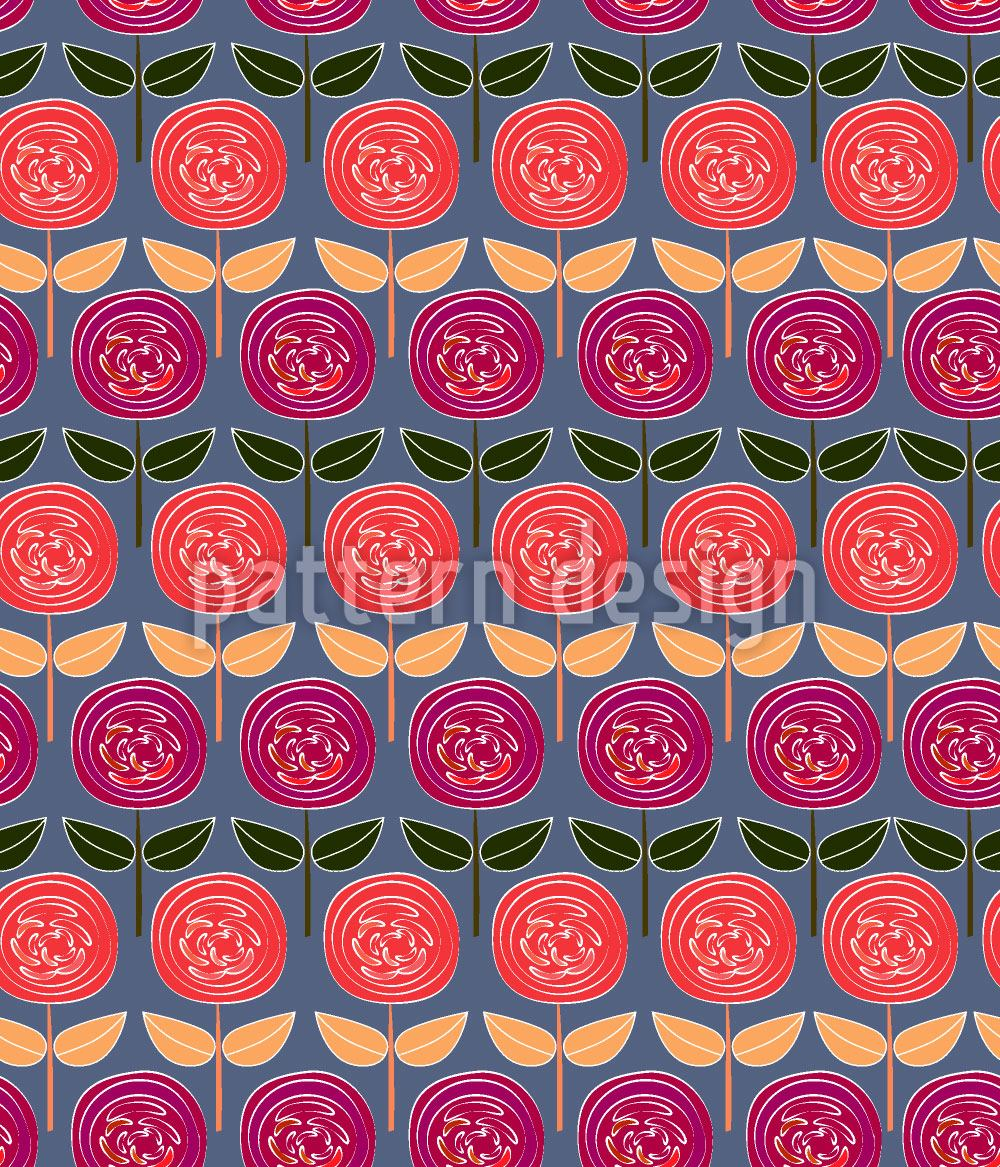 Papier peint design Rows Of Roses