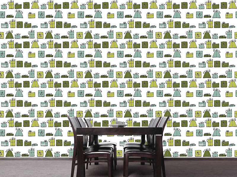 Papier peint design Wishing Punch Green