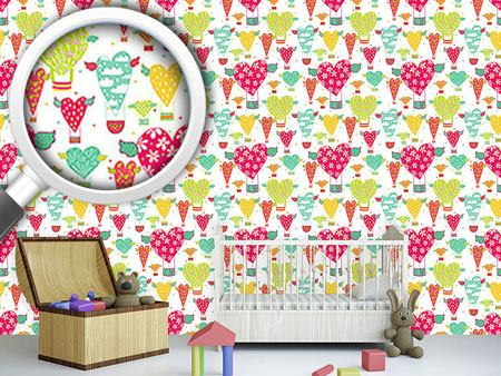 Pattern Wallpaper Take The Heart Balloon