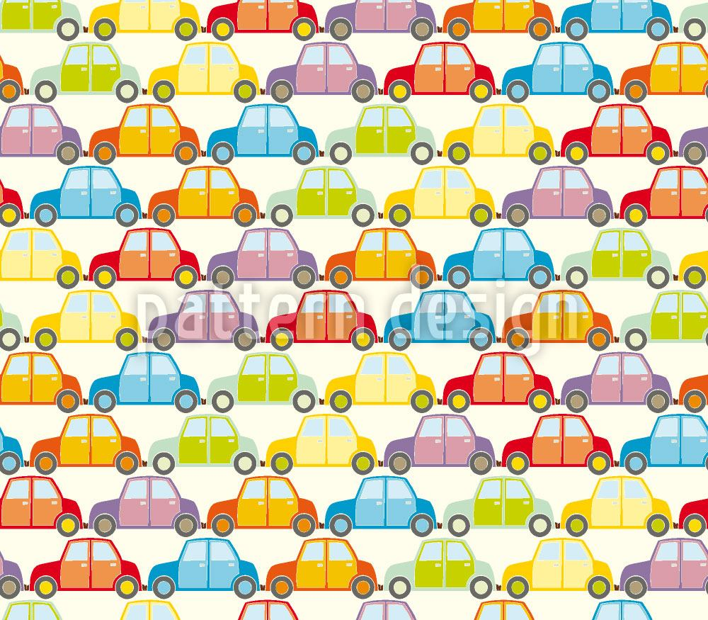 Pattern Wallpaper Cars Jam Southbound